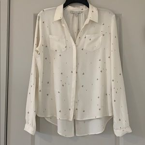 IVORY SUPERSOFT SHIRT WITH LACE TRIMMED POCKETS